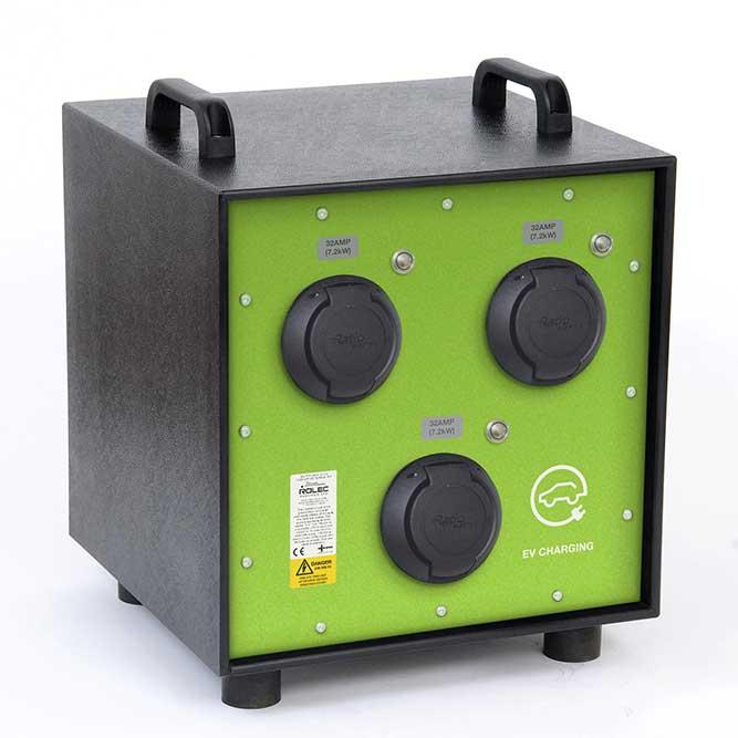 EV Cubicharge: portable charging unit by EV Camel EV chargepoint accessories