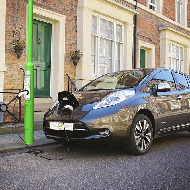 Rolec Streetcharge:EV V1, on-street and car park electric car charging, EV Camel