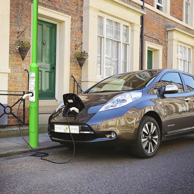 Rolec Streetcharge:EV V1, on street electric car charging, EV Camel